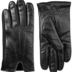 Isotoner Men's Classic Leather Touchscreen Gloves